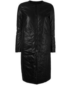 Ahirain | Leather Zip Coat Xs Lamb Skin/Polyamide/Spandex/Elastane/Polyester