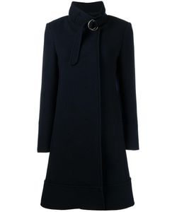 Chloe | Chloé Belted Stand-Up Collar Coat 38 Virgin Wool/Angora/Viscose/Cotton