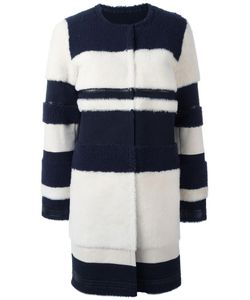 Yves Salomon | Collarless Mid Coat 40 Lamb Fur/Lamb