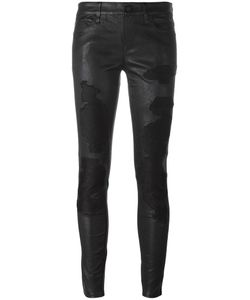 RTA | Destroyed Effect Skinny Trousers 27 Lamb Skin
