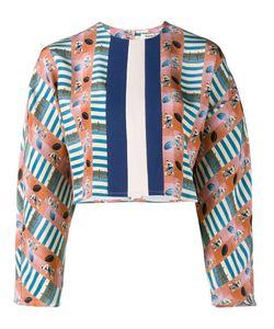 Tata Naka | Printed Cropped Blouse 6 Silk