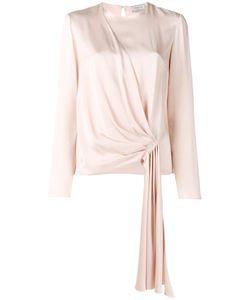 Lanvin | Gathered Front Blouse 42 Viscose/Acetate