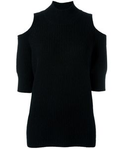 ZOE JORDAN | Cold Shoulder Jumper Small Wool/Cashmere