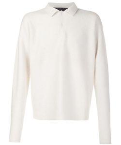 The Elder Statesman | Longsleeved Polo Shirt Xxl Cashmere/Polyamide/Spandex/Elastane