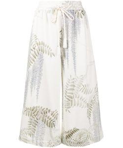 Adam Lippes | Wisteria Print Skirt Xs Cotton/Silk