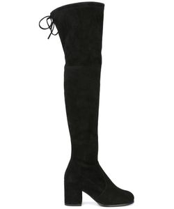 Stuart Weitzman | Tie Land Boots 40 Suede/Nylon/Rubber
