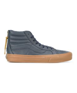 Vans | Rear Zip Hi-Tops 11.5 Cotton/Leather/Rubber