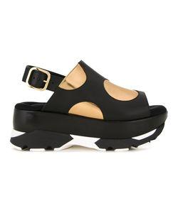 Marni | Polka Dot Platform Sandals 38 Rubber
