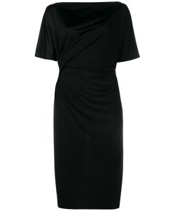 Givenchy | Drape Detail Dress 42 Cotton/Polyamide/Spandex/Elastane/Viscose