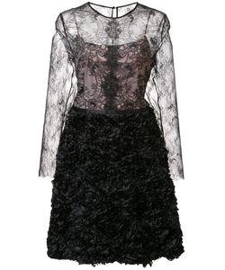 Nha Khanh | Lace Overlay Dress 8 Nylon/Polyester