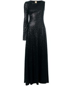 Pascal Millet | Sequin Embellished Asymmetric Sleeve Gown 36