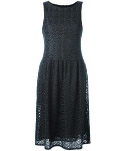 Pascal Millet | Embroidered Pleated Skirt Dress 40 Silk/Polyester/Spandex/Elastane/Wool