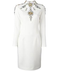 STEFANO DE LELLIS | Embellished Pencil Dress 42 Polyester/Spandex/Elastane