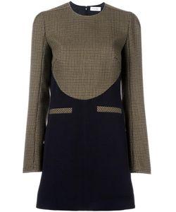 Courreges | Courrèges Houndstooth Contrast Pattern Dress 38 Acetate/Viscose/Wool