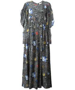 Wunderkind | Contrast Print Long Dress 40 Silk
