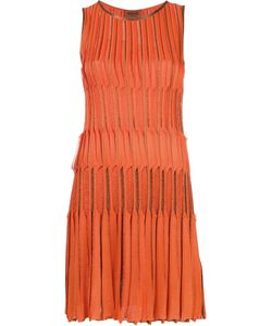 Missoni | Pleated Tank Dress 42 Cupro/Viscose/Polyester