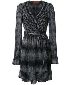 Missoni | Wrap Dress 38 Polyester/Cupro/Viscose