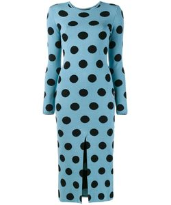 Natasha Zinko | Knitted Polka Dot Dress Xl Polyester/Viscose