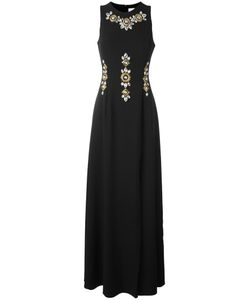 STEFANO DE LELLIS | Embellished Sleeveless Gown 42 Polyester/Spandex/Elastane
