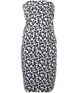 Saint Laurent | Yves Vintage Bow Print Strapless Dress 38