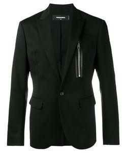 Dsquared2 | Zip Pocket Suit Jacket 48 Cotton/Calf Leather/Polyester/Virgin