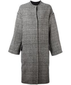 AVA ADORE | Houndstooth Pattern Coat 40 Rabbit Fur/Acrylic/Wool