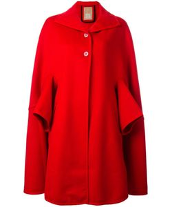 Pascal Millet | Button Front Cape Coat Medium Cotton/Cashmere/Virgin