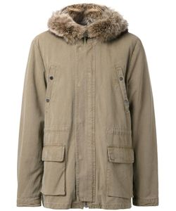 YVES SALOMON HOMME | Padded Parka 50 Cotton/Polyamide/Racoon Fur
