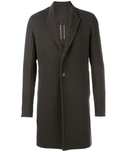 Rick Owens | Single Breasted Coat 48 Cotton/Cupro/Viscose/Cashmere