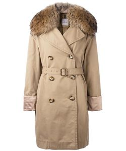 Moncler | Dori Trench Coat 0 Cotton/Feather Down/Polyamide/Racoon Fur