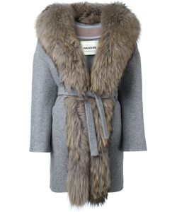 AVA ADORE | Fur Trim Coat 38 Acrylic/Acetate/Viscose/Raccoon Dog