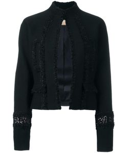 Pascal Millet | Sequin Embellished Cropped Jacket 40 Silk/Cotton/Polyamide/Virgin