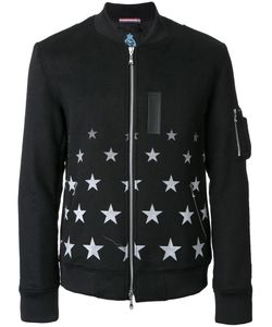 GUILD PRIME | Star Print Bomber Jacket 1 Cotton/Acrylic/Nylon/Wool