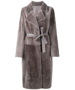 Yves Salomon | Belted Shearling Coat 38 Lamb Skin/Lamb