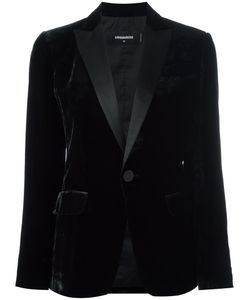 Dsquared2 | Tuxedo Velvet Effect Blazer 42 Silk/Cotton/Polyester/Viscose