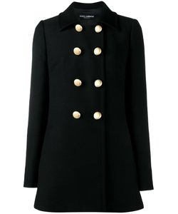 Dolce & Gabbana | Double Breasted Peacoat 42 Silk/Spandex/Elastane/Virgin