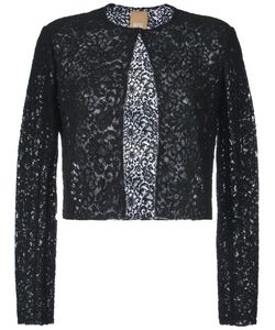 Pascal Millet | Semi-Sheer Lace Cropped Jacket 38