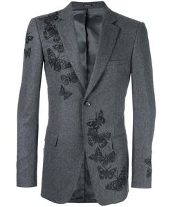 Alexander McQueen | Moth Embroidered Blazer 50 Viscose/Virgin Wool