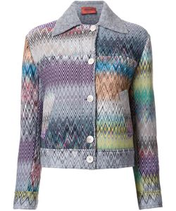 Missoni | Buttoned Jacket 40 Nylon/Wool