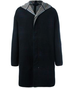 Lanvin | Lightly Checked Coat 46 Leather/Polyamide/Virgin Wool