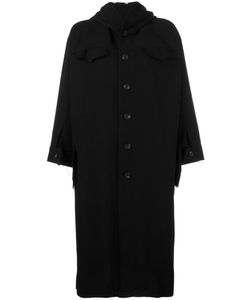 NOCTURNE 22 | Nocturne 22 Short Wide Sleeve Coat Small Cotton/Linen/Flax/Cupro/Wool