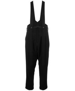 NOCTURNE 22 | Nocturne 22 Braces Detail Trousers Small Nylon/Cupro/Wool