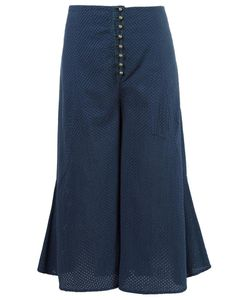 Andrea Bogosian | Wide Leg Cropped Trousers Medium Silk
