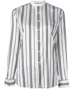 Polo Ralph Lauren   Striped Collarless Shirt 4 Silk