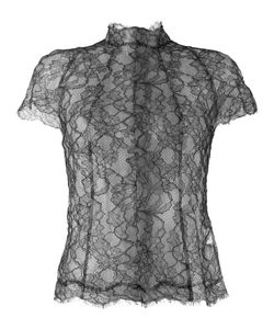 Wunderkind | Lace Panelled Blouse 40 Cotton/Ramie/Polyamide