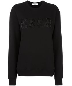 MSGM | Logo Embroidered Sweatshirt Medium Cotton