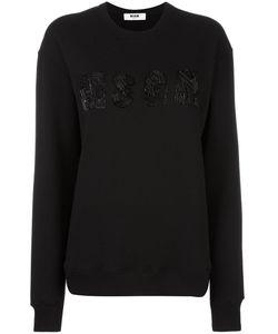 MSGM | Logo Embroidered Sweatshirt Medium Cotton