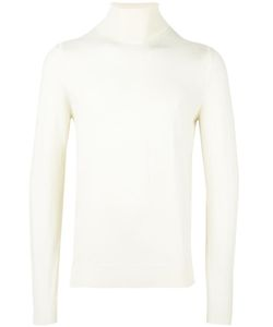 Paolo Pecora | Turtleneck Fine Knit Jumper Small Wool
