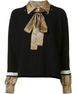 Sonia Rykiel | Jumper With Shirt Underlay Xs Silk/Cashmere/Virgin