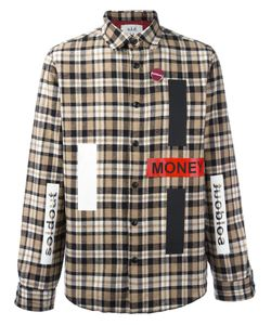 SOLD OUT FRVR | Patches Plaid Shirt Medium Cotton/Polyester/Other